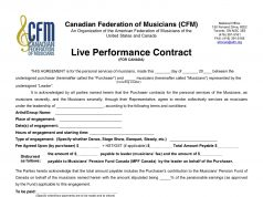This Is What A Live Music Performance Contract Looks Like