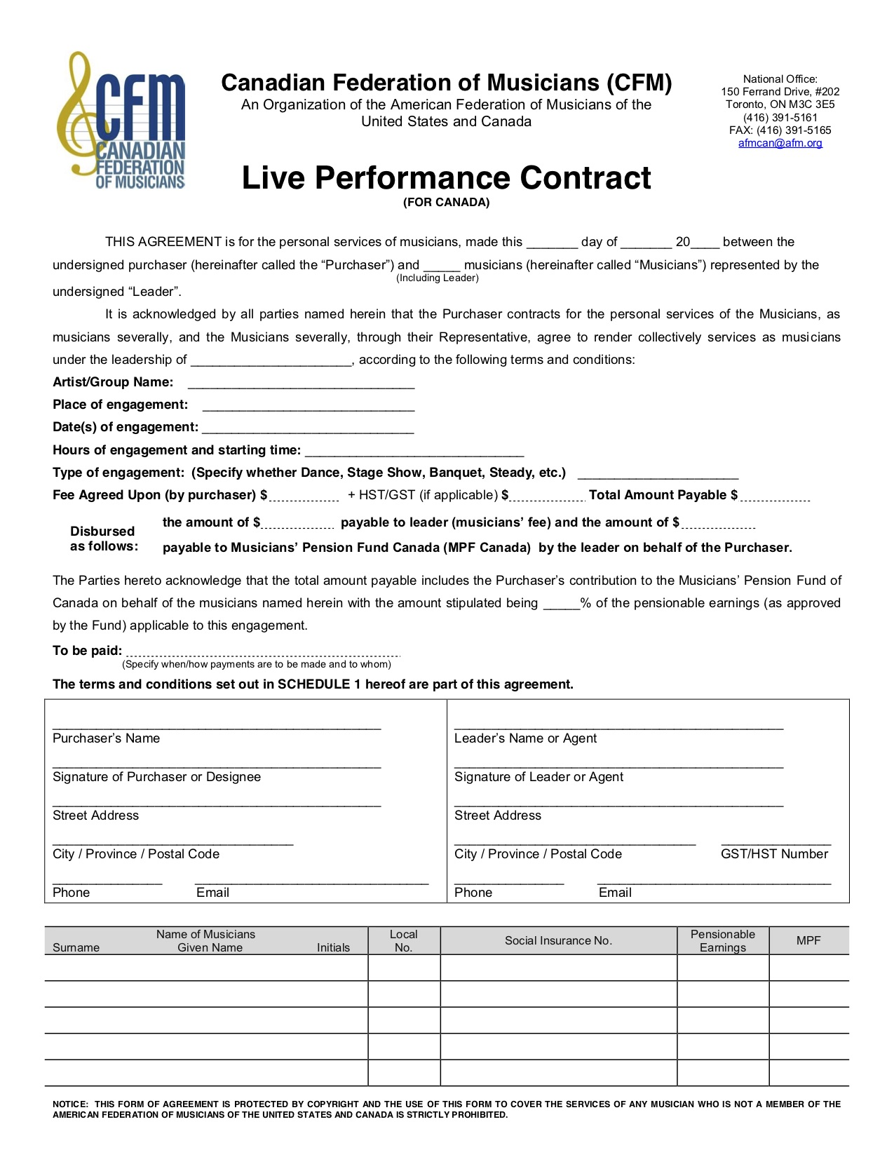 this is what a live music performance contract looks like hamilton musician media. Black Bedroom Furniture Sets. Home Design Ideas